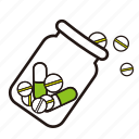 bottle, medicines, pill, tablet icon