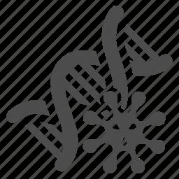 ameba, biotechnology, dna, genetics, helix, microbe, pathogen icon
