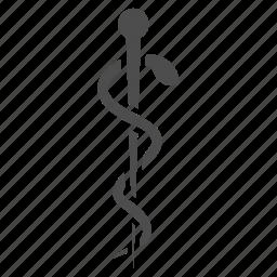 health, medical, medicine, needle, pin, snake, treatment icon