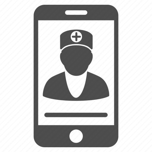 communication, connection, consultation, doctor, mobile, online, telephone icon