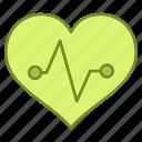 cardiogram, healthcare, heart, medicine, treatment icon