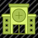 building, healthcare, hospital, medicine, treatment icon