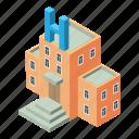 building, hospital, isometric, logo, medical, medicine, object