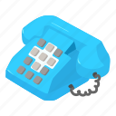 helpline, isometric, logo, object, old, phone, vintage