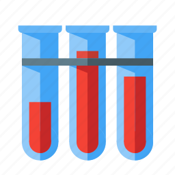blood, lab, laboratory, science, test, tube icon