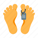 corpse, danger, dead, death, feet, foot, morgue icon