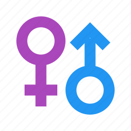 female, gender, genders, male, sex, sign icon