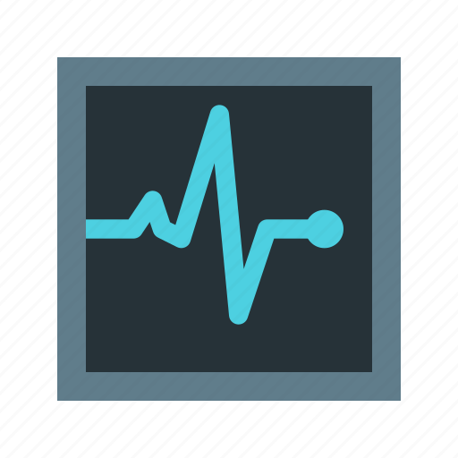 heart, heart rate, heartbeat, medical, monitor, screen, xray icon