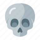 bones, danger, dead, death, halloween, skeleton, skull icon