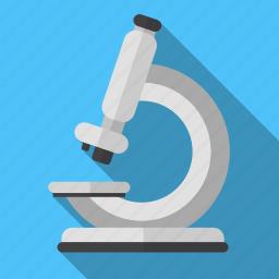 device, education, medicine, microorganisms, microscope, zoom icon