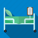 bed, counter, drop, hospital, medicine icon