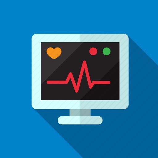 display, heart, heartbeat, medical, medicine, monitor icon