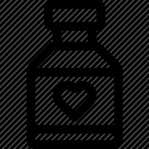 bottle, cardio, doctor, health, heart, medicine, pills icon