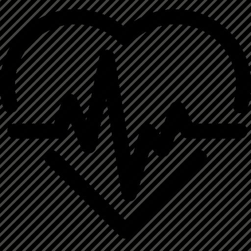 cardio, cardiology, health, heart, heartbeat, lifeline, pulse icon