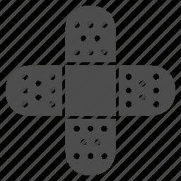 adhesive, aid, bandage, glue, patch, plaster, treatment icon
