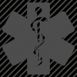 aid, health, healthcare, healthy, life star, medical symbol, medicine icon