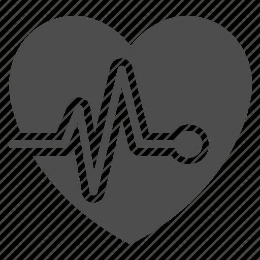cardiac, cardio, cardiogram, heart, heart beat, pulsation, pulse icon