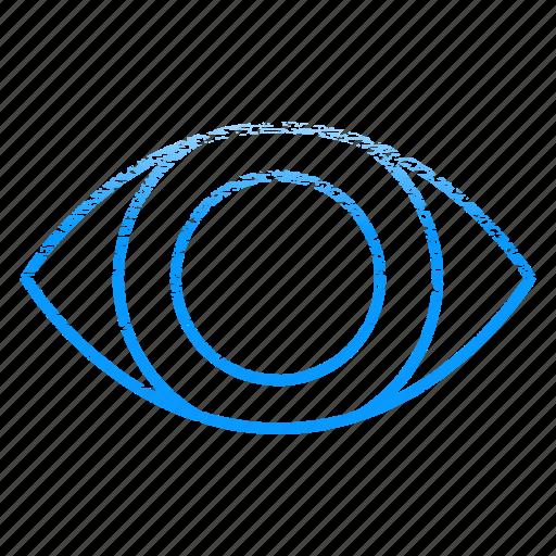 eye, eyeball, optic, optometry, retina, scan, view icon