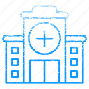 building, doctor, health, hospital, medical, medicine icon