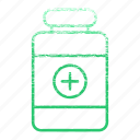 bottle, drug, drugs, medication, medications, medicine icon