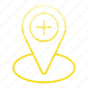 exact location, location, map pin, placeholder, pointing placeholder icon