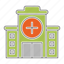 building, construction, doctor, emergency, healthcare, hospital, medicine icon
