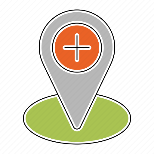 healthcare, location, medicine, pharmacy, pin, placeholder icon