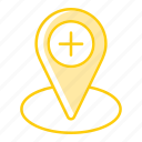 healthcare, location, medicine, pharmacy, pin, placeholder, treatment icon