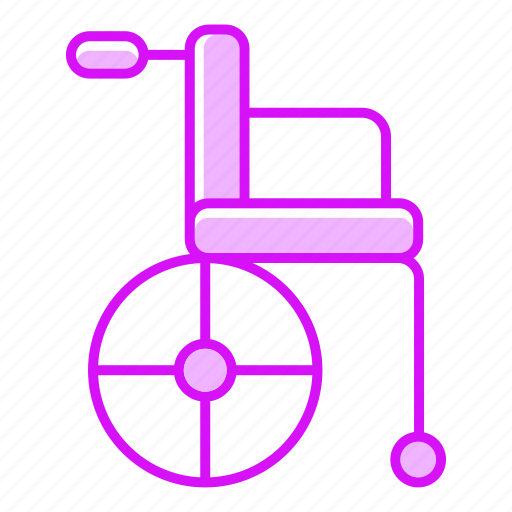 chair, healthcare, medicine, seat, treatment, wheelchair icon