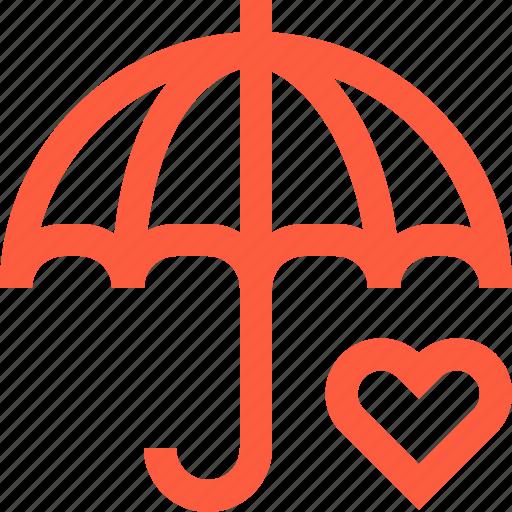 assurance, guarantee, heart, help, insurance, medical, umbrella icon