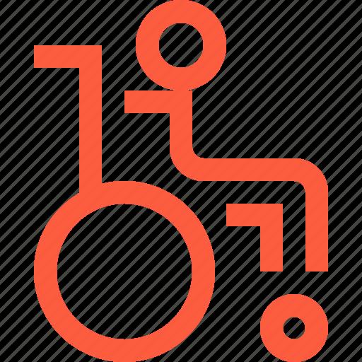 disabled, invalid, medical, person, rehab, rehabilitation, wheelchair icon