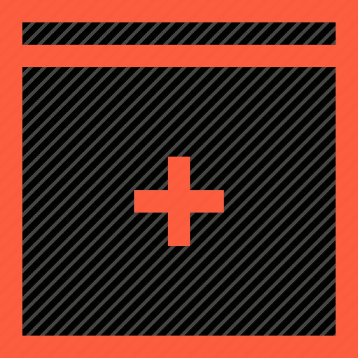 cross, hospital, lifesaving, medical, medicine, window icon