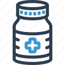 bottle, drug, hospital, medical, medicine, pharmacy, pill icon