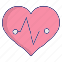 cardiogram, heart, love, medecine icon