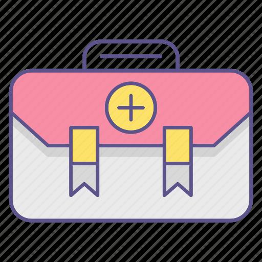 aid, bag, first, kit, medecine icon