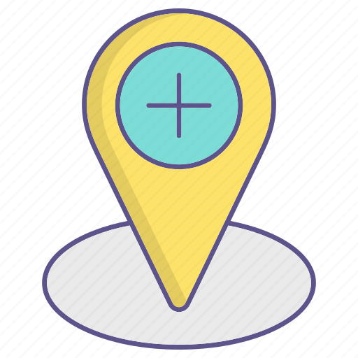 location, medecine, pin, placeholder icon