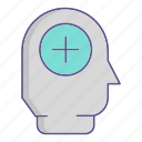 head, medecine, mental, user icon