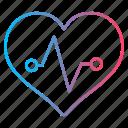 cardiogram, cardiology, heartbeat, medicine icon