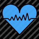 cardio, health status, heart, heartbeat, pulse icon