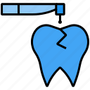 disease, drill, stomatology, tooth, treat icon