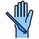 hand, cut, operation, scalpel, suicide icon