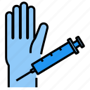 hand, injection, syringe, narcotic, prick icon