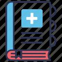 book, health, healthcare, medical, medical book, medical education, medicine icon