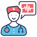 doctor, male, medical, physician, stethoscope, surgeon, surgery icon