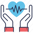 beat, care, disease, ecg, heart, heart care, prevention icon