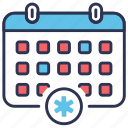 appointment, calendar, date, medical, schedule, time, treatment icon