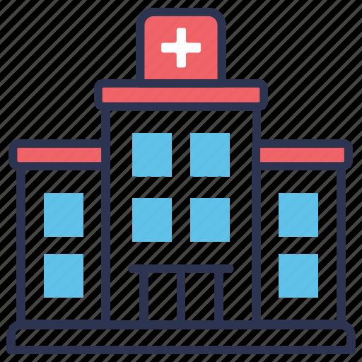 building, clinic, emergency, healthcare, hospital, medical, medicine icon