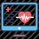 activity, diagnostics, health, hospital, monitor icon