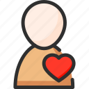 beat, heart, hospital, man, medical, person icon