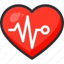 beat, curve, heart, hospital, medical, pulse icon
